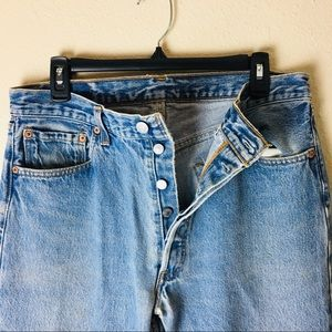 VINTAGE Levi's 501 Straight Leg Light Wash Denim